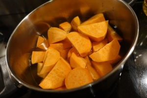 Sweet Potatoes in pot