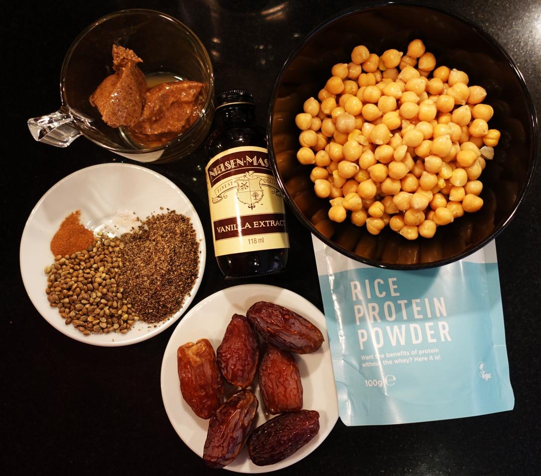 Ingredients: Easy Vegan Protein Bars